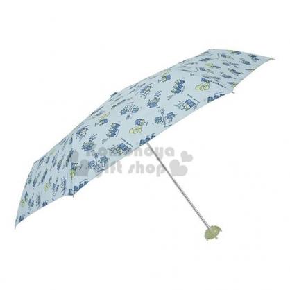 〔小禮堂〕迪士尼 三眼怪 頭型柄折疊雨陽傘《藍綠.滿版》折傘.雨傘.雨具