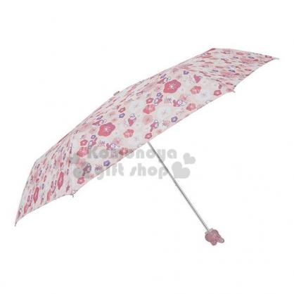 〔小禮堂〕美樂蒂 頭型柄折疊雨陽傘《粉.櫻花》折傘.雨傘.雨具