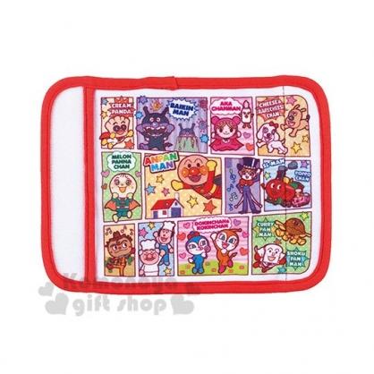〔小禮堂〕麵包超人 嬰兒車用棉質安全帶護套組《2入.黃紅.漫畫格》減壓帶.嬰兒用品
