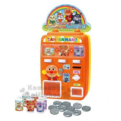 〔小禮堂〕麵包超人 飲料販賣機玩具組《橘盒裝.舉手》益智玩具.兒童玩具