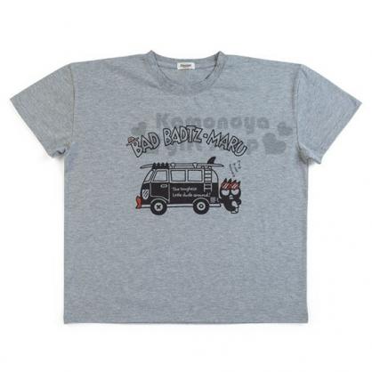 〔小禮堂〕酷企鵝 棉質休閒圓領短袖上衣《深灰.箱型車》T恤.短T.T-shirt