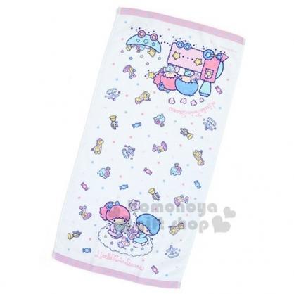 〔小禮堂〕雙子星 棉質長毛巾《白紫.火車》34x71cm.長巾