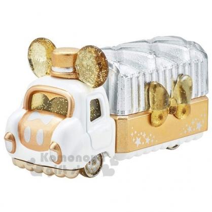〔小禮堂〕迪士尼 米奇 TOMICA小汽車《金.水晶卡車》珠寶車.公仔.玩具.模型