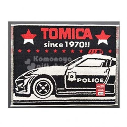 〔小禮堂〕TOMICA小汽車 毛巾腳踏墊《黑紅.警車》45X60cm.浴墊.地墊