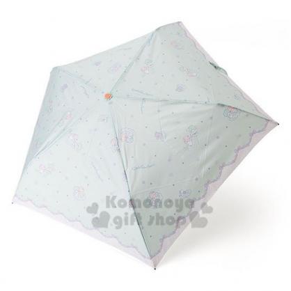 〔小禮堂〕雙子星 超輕量折疊雨陽傘《淡綠.坐雲上》雨傘.折傘.雨傘