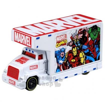 〔小禮堂〕MARVEL漫威 TOMICA小汽車博覽會宣傳車《白》公仔.玩具.模型