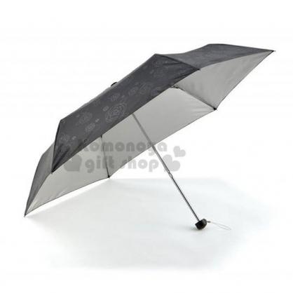 〔小禮堂〕折疊雨陽傘《黑.玫瑰滿版》雨傘.折傘.雨具.晴雨兩用.抗UV
