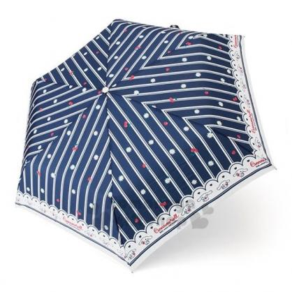 〔小禮堂〕大耳狗 折疊雨陽傘《藍白.櫻桃滿版》雨傘.折傘.雨具