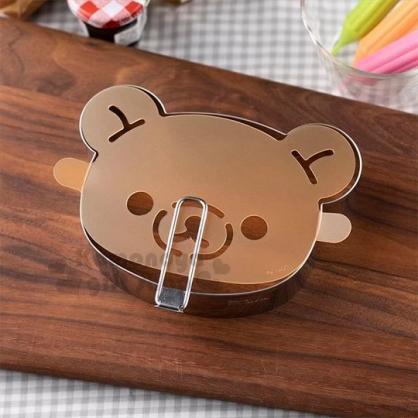 〔小禮堂〕懶懶熊 拉拉熊 大臉造型不鏽鋼蛋糕模具粉篩組《銀》模型.烘焙用品