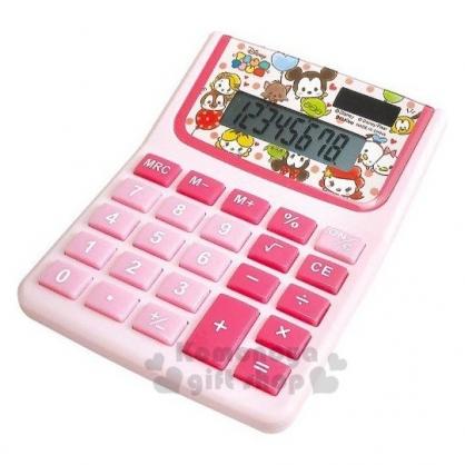 〔小禮堂〕迪士尼 TsumTsum 8位元計算機《粉.愛心大臉》事務用品