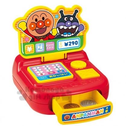 〔小禮堂〕麵包超人 音樂收銀機鈔票玩具組《橘盒.招手》兒童玩具.益智玩具