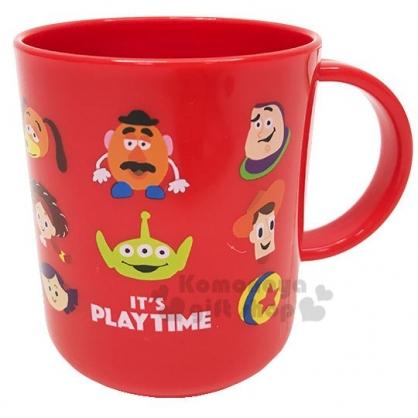 〔小禮堂〕迪士尼 玩具總動員 日製單耳塑膠小水杯《紅.角色》250ml.漱口杯.塑膠杯