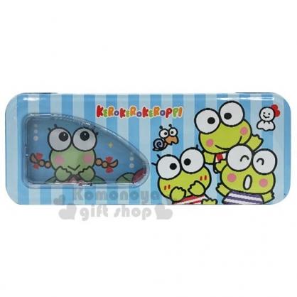 〔小禮堂〕大眼蛙 雙層鐵製鉛筆盒《藍綠.招手》收納盒.筆袋