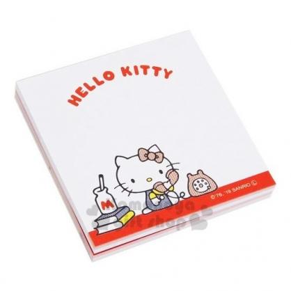 〔小禮堂〕Hello Kitty 日製自黏便利貼《紅白.講電話》N次貼.書籤貼.標籤貼