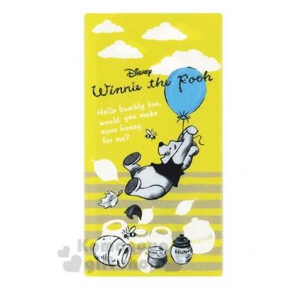 〔小禮堂〕迪士尼 小熊維尼 日製抗菌口罩收納夾《黃灰.拉汽球》收納包.口罩夾