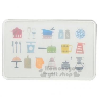 〔小禮堂〕日本PEARL 日製輕量型塑膠方形砧板《白.餐具》菜板.切菜板