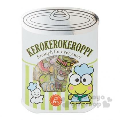 〔小禮堂〕大眼蛙 罐頭造型果凍透明貼紙組《綠白》裝飾貼.黏貼用品.包裝禮物