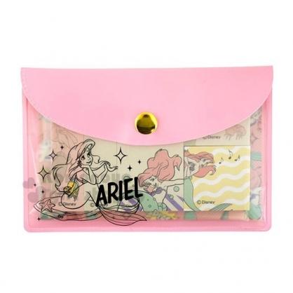 〔小禮堂〕迪士尼 小美人魚 自黏便利貼收納包組《粉》N次貼.標籤貼.書籤貼