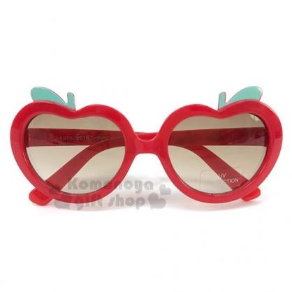 〔小禮堂〕Hello Kitty 兒童造型抗UV太陽眼鏡《紅棕.蘋果》墨鏡.2019夏日兒童服飾