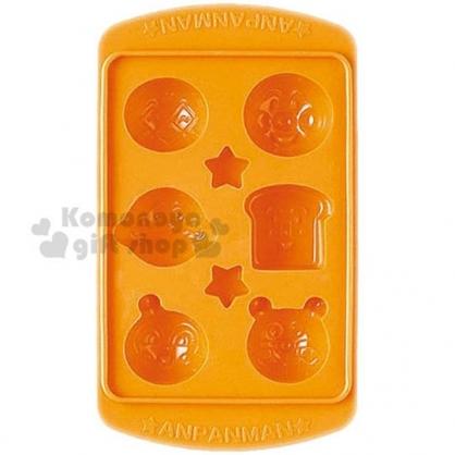 〔小禮堂〕麵包超人 日製造型塑膠製冰模《橘.大臉》模具.巧克力模