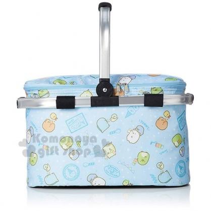 〔小禮堂〕角落生物 可折疊保冷野餐籃提籃《亮藍.冰淇淋》保冷袋.保冷箱