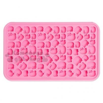 〔小禮堂〕Hello Kitty 迷你矽膠造型製冰模《桃粉》製冰盤.模具.2019夏日單品