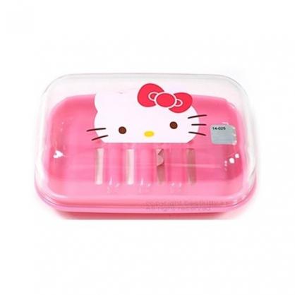 〔小禮堂韓國館〕Hello Kitty 透明蓋皂盒《粉紅.草莓》輕鬆美化室內空間