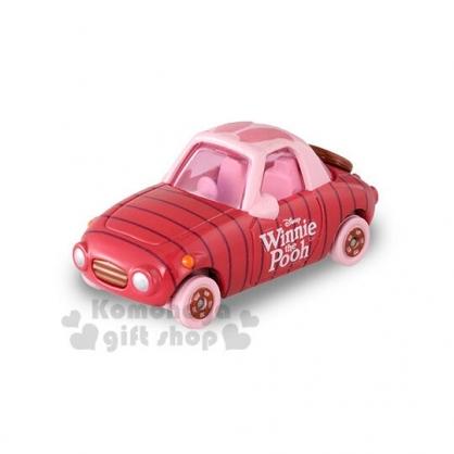 〔小禮堂〕迪士尼 小熊維尼 小豬 TOMICA小汽車《粉.造型車》模型.公仔.玩具