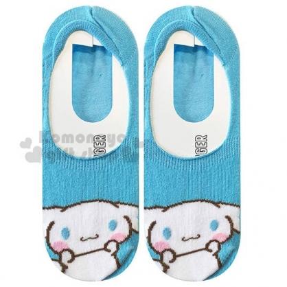 〔小禮堂〕大耳狗 成人隱形襪《藍白.大臉》腳長23-25cm.短襪.棉襪