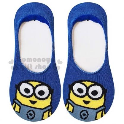 〔小禮堂〕小小兵 成人隱形襪《藍黃.大臉》腳長23-25cm.短襪.棉襪