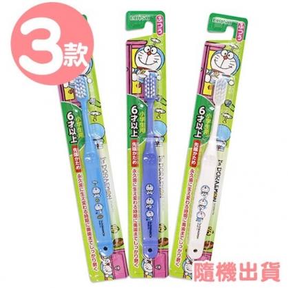 〔小禮堂〕哆啦A夢 日製兒童牙刷《3款隨機.藍/白》口腔清潔.盥洗用品