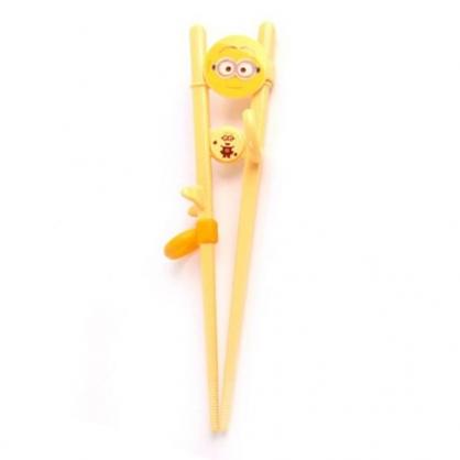 〔小禮堂〕小小兵 兒童造型塑膠學習筷《黃.大臉》環保筷.環保餐具.兒童餐具