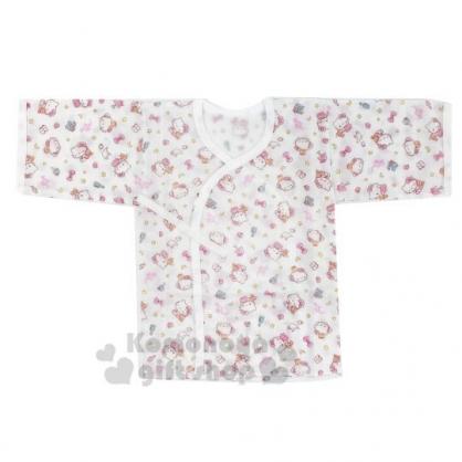 〔小禮堂〕台灣佳美 Hello Kitty 嬰兒紗布肚衣《白.物品滿版》童裝.棉衣.衛生衣