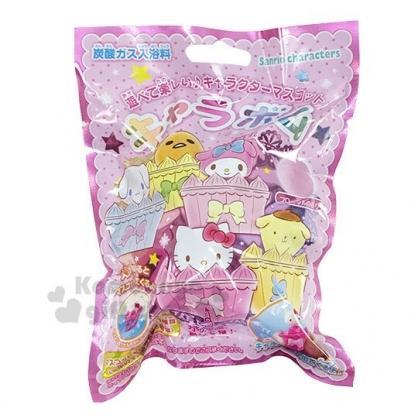〔小禮堂〕Sanrio大集合 造型入浴球《5款隨機.粉.杯子蛋糕》入浴劑.泡澡球