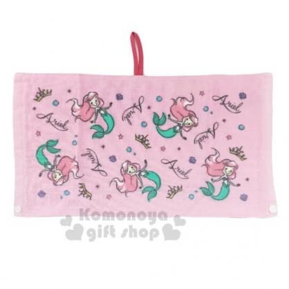〔小禮堂〕迪士尼 小美人魚 棉質兒童擦手巾《粉.Q版》25x47cm.圍兜.擦嘴巾.丸真毛巾
