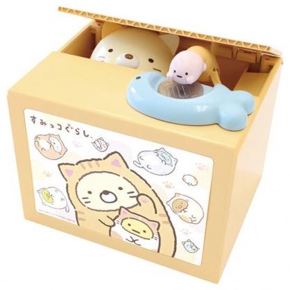 〔小禮堂〕角落生物 偷錢箱存錢筒《黃.貓裝》撲滿.儲金筒