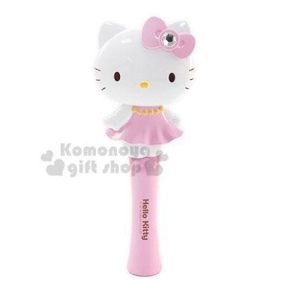 〔小禮堂〕Hello Kitty 造型塑膠氣墊手握梳子《粉白.洋裝站姿》直梳.髮梳