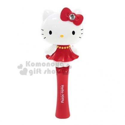〔小禮堂〕Hello Kitty 造型塑膠氣墊手握梳子《紅白.洋裝站姿》直梳.髮梳