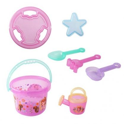 〔小禮堂〕迪士尼 蘇菲亞公主 塑膠挖沙玩具組《紫綠.森林》鏟子.澆水器.沙灘玩具