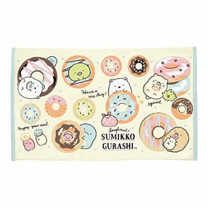 〔小禮堂〕角落生物 純棉割絨大浴巾《黃橘.甜甜圈》75x130cm.毛巾