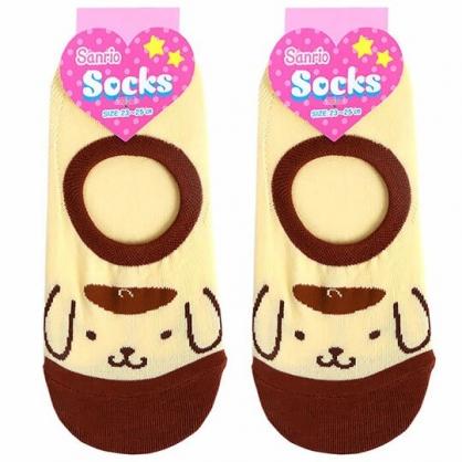 〔小禮堂〕布丁狗 成人隱形襪《紅棕.大臉》腳長23-25cm.短襪.棉襪.船形襪