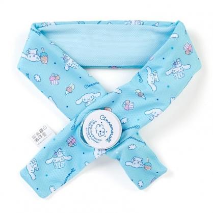 〔小禮堂〕大耳狗 冰枕式透氣涼感毛巾《藍》7x85cm.涼感圍巾.運動毛巾