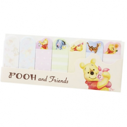 〔小禮堂〕迪士尼 小熊維尼 日製造型自黏標籤貼《米.抱小豬》便利貼.便條紙.書籤貼