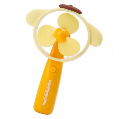 〔小禮堂〕布丁狗 軟葉片大臉造型電池式隨身風扇《黃》手握扇.手持電風扇