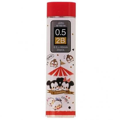 〔小禮堂〕迪士尼 TsumTsum 日製自動鉛筆筆芯《紅白.撐傘》0.5mm.2B筆芯.學童文具