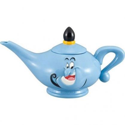 〔小禮堂〕迪士尼 阿拉丁 神燈造型陶瓷茶壺《藍.大臉》水壺.咖啡壺