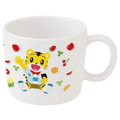 〔小禮堂〕巧虎 單耳美耐皿小水杯《白黃.拿飯糰》230ml.塑膠杯.漱口杯