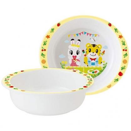 〔小禮堂〕巧虎 雙耳美耐皿平底碗《白黃.野餐》260ml.飯碗.塑膠碗.兒童碗
