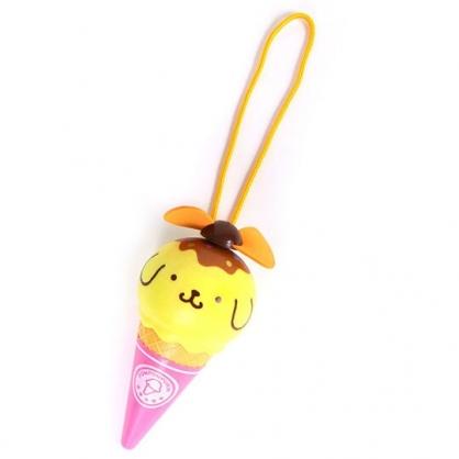 〔小禮堂〕布丁狗 軟葉片冰淇淋造型電池式隨身風扇《黃粉》手握扇.手持電風扇
