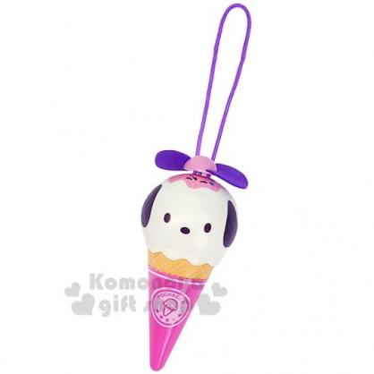 〔小禮堂〕帕恰狗 軟葉片冰淇淋造型電池式隨身風扇《粉紫》手握扇.手持電風扇